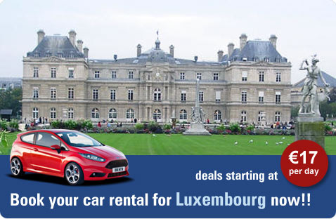 Book your car rental for Luxembourg