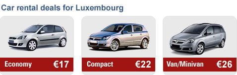 Car rental deals for Luxembourg